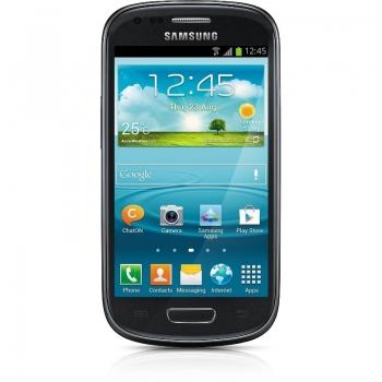 Telefon Mobil Samsung Galaxy S3 Mini i8190 Onyx Black Cortex A9 Dual Core 1.0GHz 8GB Android 4.1 Husa Protectie SI8190BK+EFC-1M7BGEGSTD