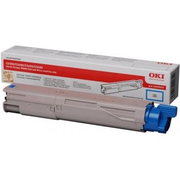 Cartus Toner Oki 43459435 Cyan Standard Capacity 1500 Pagini for C3300N, C3400N, C3450N