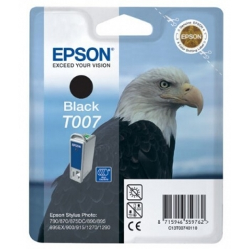 Cartus Cerneala Epson T007 Black capacitate 1080 pagini for Epson Stylus Photo 1270, 1290, 900, 780, 790, 870, 870LE, 875DC, 890, 895, 915 C13T00740210