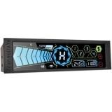 Thermaltake Commander FT, fan controller 5.25 cu touch screen 5.5 si senzor de temperatura, se pot controla 5 ventilatoare (conectori 3-pin sau 4-pin PWM), 1 senzor de temperatura, 5 canale (10W/canal, 50W combinat), alarma de temperatura, posibilitatea