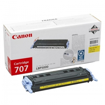 Cartus Toner Canon CRG-707Y Yellow 2000 Pagini for LBP 5000, LBP 5100 CR9421A004AA