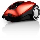 Model : Rebel75HFC Metal Red, : Aspirator cu sac, : 800W, motor de inalta eficienta cu economisire a energiei, : Filtru de evacuare HEPA Media pentru aer curat, : 3.2L, : Energie: A, podele dure: A, Covoare: D filtru: A kWh/an: 25.9, : 6m, : Design compac