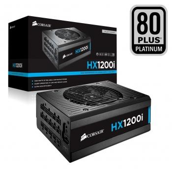 Sursa Modulara Corsair HX1200i 1200W 8x PCI-E 12x SATA 12x Molex 2x Floppy PFC Activ OVP, UVP, SCP, OPP, OTP Certificare 80+ Platinum CP-9020070