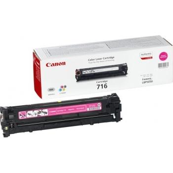 Cartus Toner Canon CRG-716M Magenta 1500 Pagini for LBP 5050, LBP 5050N, MF 8030CN, MF 8050CN CR1978B002AA