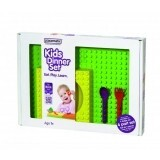 Kids Dinner Gift Box - bowl (y) & spoon (p) & fork Placematix 101002A