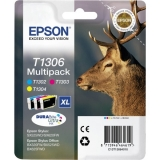 Multipack Cartus Cerneala Epson T1306 CMY for Stylus Office B42WD, BX320FW, BX525WD, BX625FWD, BX925FWD C13T12854010