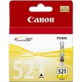 Cartus Cerneala Canon CLI-521Y Yellow 470 Pagini for Pixma IP3600, IP4600, IP4700, MP550, MP560, MP620, MP630, MP640, MP980, MP540, MP990, MX870 BS2936B001AA