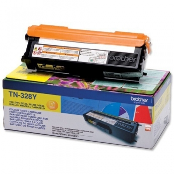 Cartus Toner Brother TN328Y Yellow 6000 pagini for HL-4570CDW, MFC-9970CDW