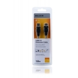 Cablu prelungitor USB 2.0 1.8m Belkin F3U153CP1.8M