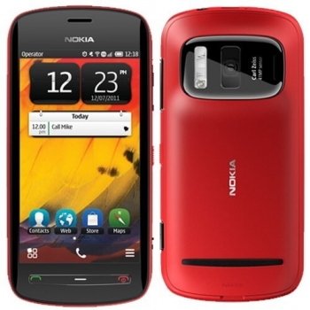 "Telefon Mobil Nokia 808 PureView Red Camera foto 41MP 3G 4"" 360 x 640 Gorilla Glass ARM 11 1.3GHz memorie interna 16GB Simbian Nokia Belle OS NOK808RD"