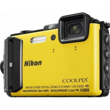 Model : COOLPIX WATERPROOF AW130 Outdoor Kit (yellow), Rezolutie : , Senzor : , Sistem procesare a imaginii : , Zoom optic : , Zoom digital : , Stabilizator imagine : , Sensibilitate : , Timp de expunere : , Viteza de declansare : , Blit : , Ecran : , Inr