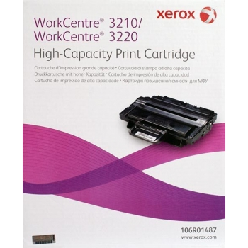 Cartus Toner Xerox 106R01487 Black High Capacity 4100 Pagini for WorkCentre 3210, WorkCentre 3220