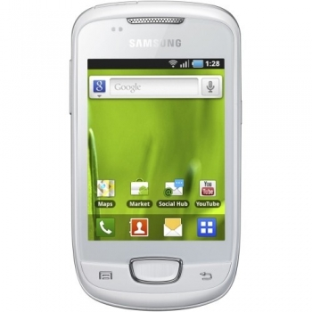 Telefon Mobil Samsung Galaxy Pop Plus S5570i Chic White ARM v6 832MHz Android v2.2 SAMS5570WHT