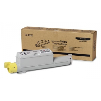 Cartus Toner Xerox 106R01220 Yellow High Capacity 12000 Pagini for Phaser 6360DN, 6360DT, 6360DX, 6360N