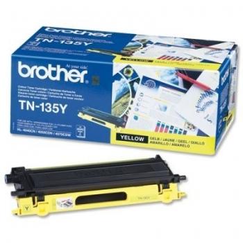 Cartus Toner Brother TN135Y Yellow 4000 Pagini for DCP-9040CN, DCP-9042CDN, DCP-9045CDN, HL-4040CN, HL-4050CDN, HL-4070CDW, MFC-9440CN, MFC-9450CDN, MFC-9840CDW