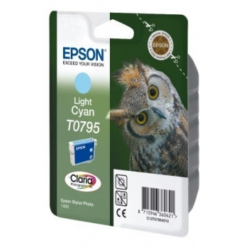 Cartus Cerneala Epson T0795 Light Cyan 660 Pagini for Epson Stylus Photo R1400 C13T07954010