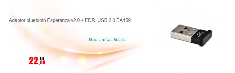 Adaptor bluetooth Esperanza v2.0 + EDR, USB 2.0 EA159