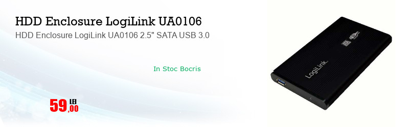 """HDD Enclosure LogiLink UA0106 2.5"""" SATA USB 3.0"""
