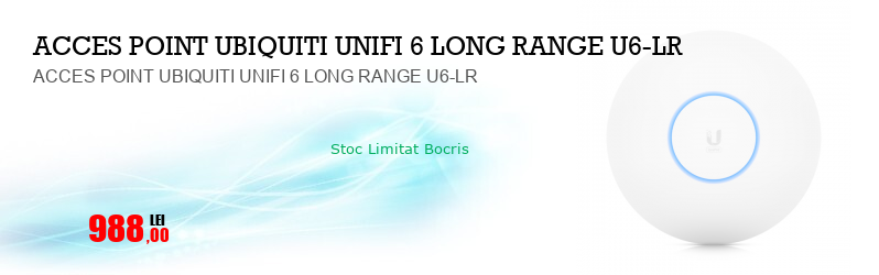 ACCES POINT UBIQUITI UNIFI 6 LONG RANGE U6-LR