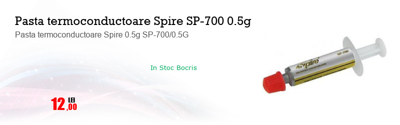 Pasta termoconductoare Spire 0.5g SP-700/0.5G