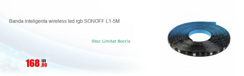Banda inteligenta wireless led rgb SONOFF L1-5M