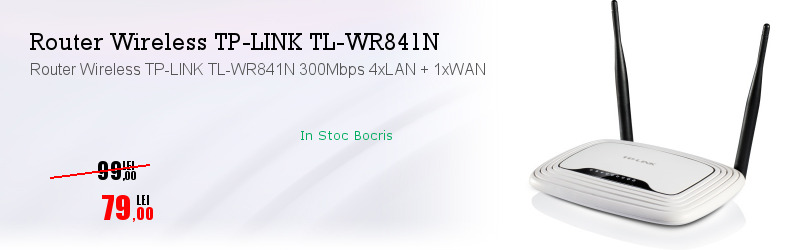 Router Wireless TP-LINK TL-WR841N 300Mbps 4xLAN + 1xWAN