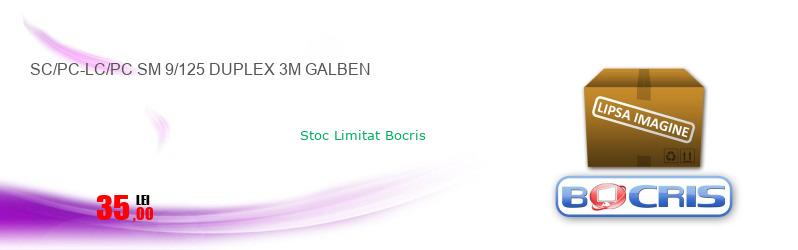 SC/PC-LC/PC SM 9/125 DUPLEX 3M GALBEN