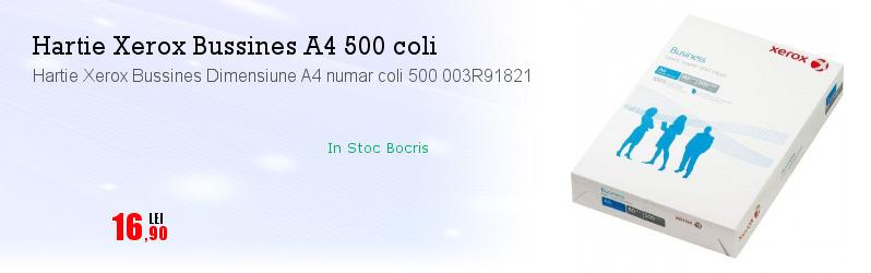 Hartie Xerox Bussines Dimensiune A4 numar coli 500 003R91821