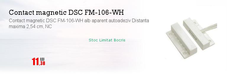 Contact magnetic DSC FM-106-WH alb aparent autoadeziv Distanta maxima 2,54 cm, NC