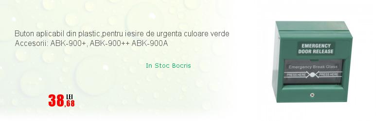 Buton aplicabil din plastic,pentru iesire de urgenta culoare verde Accesorii: ABK-900+, ABK-900++ ABK-900A