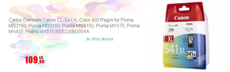 Cartus Cerneala Canon CL-541XL Color 400 Pagini for Pixma MG2150, Pixma MG3150, Pixma MG4150, Pixma MX375, Pixma MX435, Pixma MX515 BS5226B005AA