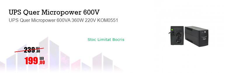 UPS Quer Micropower 600VA 360W 220V KOM0551