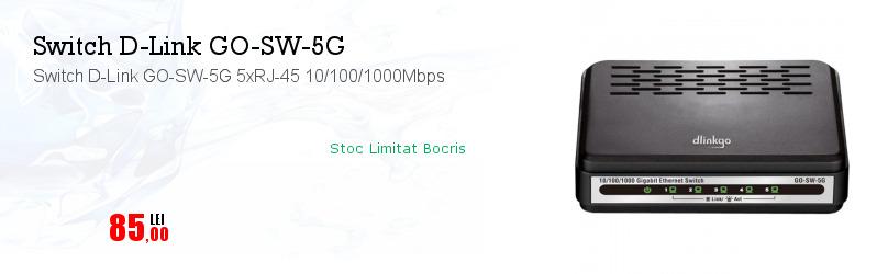 Switch D-Link GO-SW-5G 5xRJ-45 10/100/1000Mbps