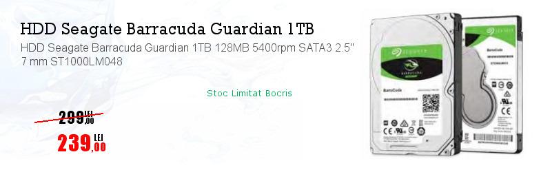 """HDD Seagate Barracuda Guardian 1TB 128MB 5400rpm SATA3 2.5"""" 7 mm ST1000LM048"""