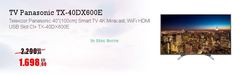 """Televizor Panasonic 40""""(100cm) Smart TV 4K Miracast, WiFi HDMI USB Slot CI+ TX-40DX600E"""