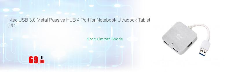 i-tec USB 3.0 Metal Passive HUB 4 Port for Notebook Ultrabook Tablet PC