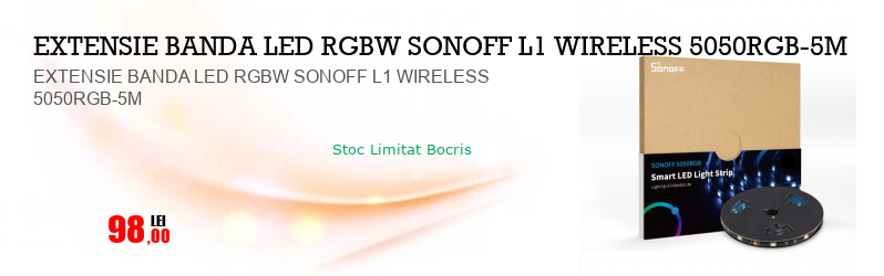 EXTENSIE BANDA LED RGBW SONOFF L1 WIRELESS 5050RGB-5M