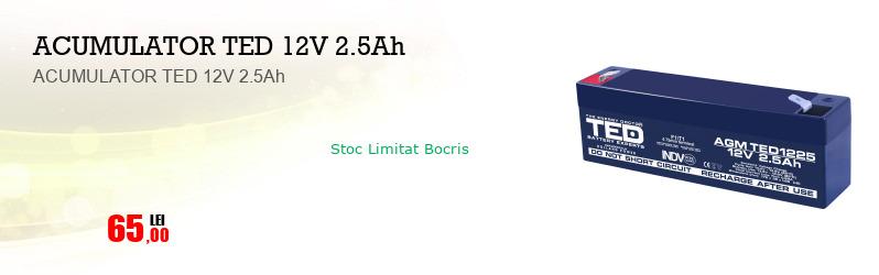 ACUMULATOR TED 12V 2.5Ah