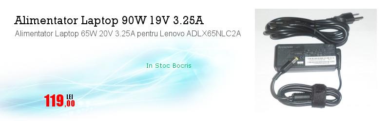 Alimentator Laptop 65W 20V 3.25A pentru Lenovo ADLX65NLC2A