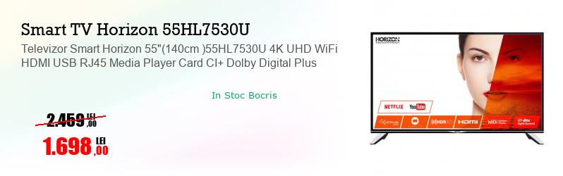 "Televizor Smart Horizon 55""(140cm )55HL7530U 4K UHD WiFi HDMI USB RJ45 Media Player Card CI+ Dolby Digital Plus"