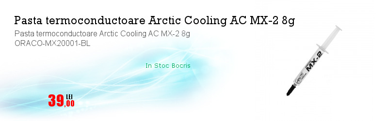 Pasta termoconductoare Arctic Cooling AC MX-2 8g ORACO-MX20001-BL