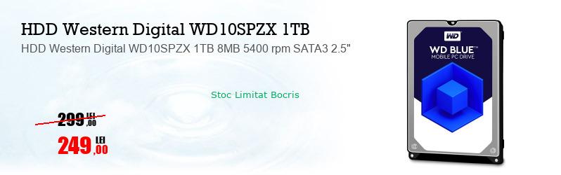 """HDD Western Digital WD10SPZX 1TB 8MB 5400 rpm SATA3 2.5"""""""