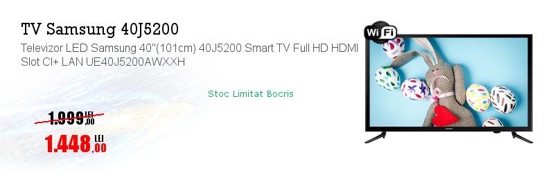 """Televizor LED Samsung 40""""(101cm) 40J5200 Smart TV Full HD HDMI Slot CI+ LAN UE40J5200AWXXH"""