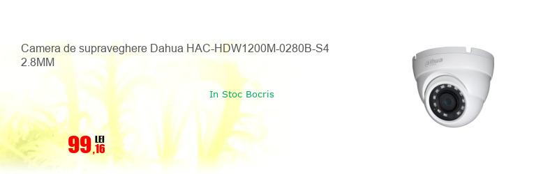 Camera de supraveghere Dahua HAC-HDW1200M-0280B-S4 2.8MM