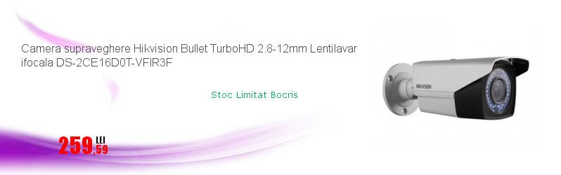 Camera supraveghere Hikvision Bullet TurboHD 2.8-12mm Lentilavar ifocala DS-2CE16D0T-VFIR3F