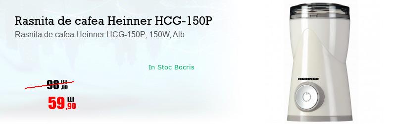 Rasnita de cafea Heinner HCG-150P, 150W, Alb
