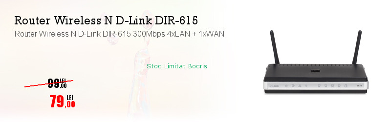 Router Wireless N D-Link DIR-615 300Mbps 4xLAN + 1xWAN