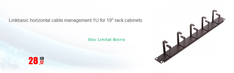 Linkbasic horizontal cable management 1U for 19'' rack cabinets