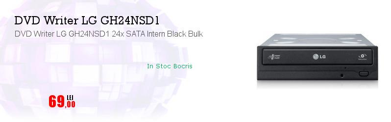 DVD Writer LG GH24NSD1 24x SATA Intern Black Bulk