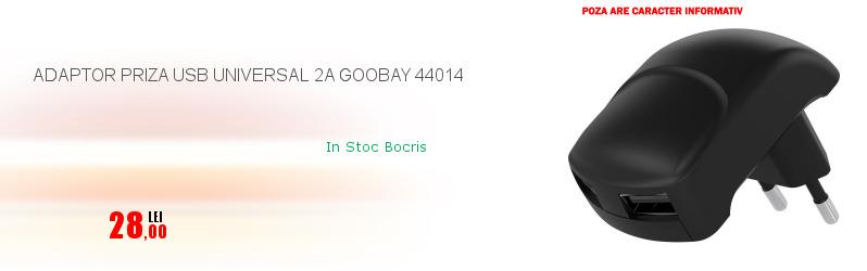 ADAPTOR PRIZA USB UNIVERSAL 2A GOOBAY 44014